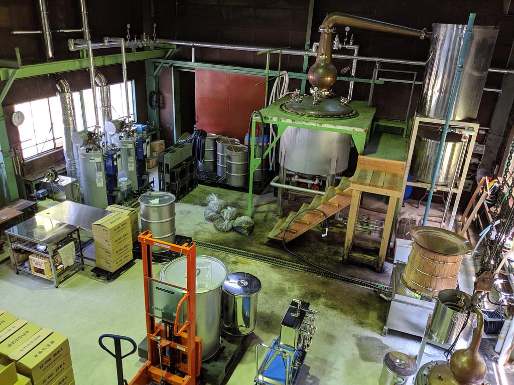 Inside Tatsumi Distillery